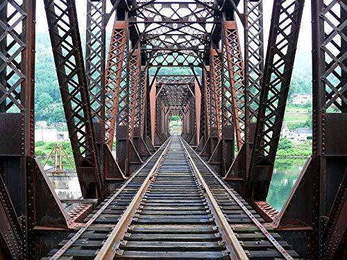 Home Comforts Peel-n-Stick Poster of Rails Tracks Railroad Bridge Trusses Vivid Imagery Poster 24 x 16 Adhesive Sticker Poster ()