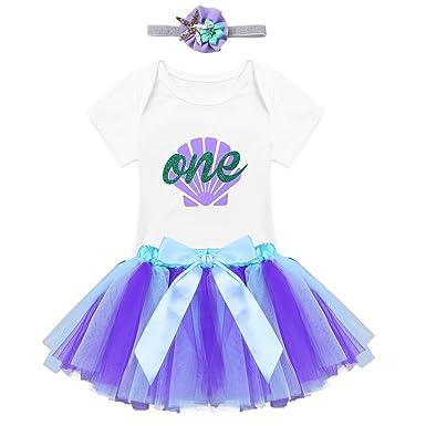 inhzoy Vestido Tutú de Princesa para Bebé Niña Traje de ...
