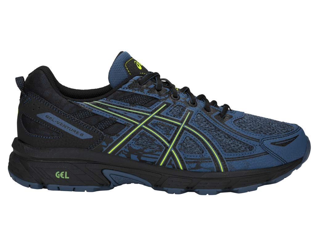 ASICS Gel-Venture 6 MX Men's Running Shoe, Grand Shark/Neon Lime, 7 M US