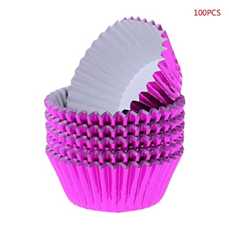100pcs Paper Cake Cupcake Foil Liners Baking Muffin Cup Case Party Decor UK