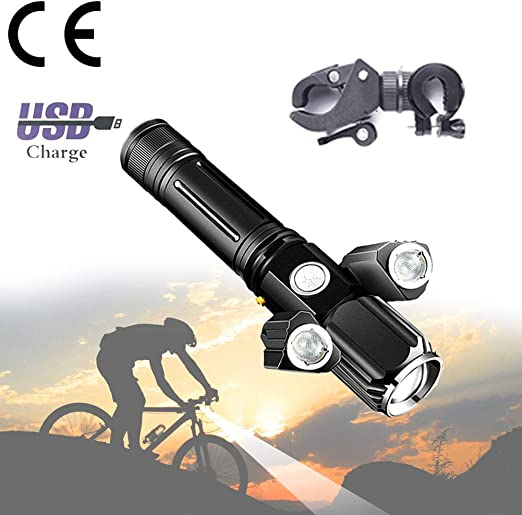 ACLBB USB Multifuncional Luz Bicicleta Recargable con Soporte ...