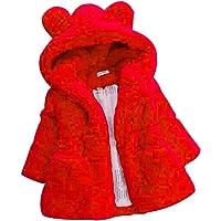 Giacca Ragazzo E Ragazza Giacche con Cappuccio Animale Mantello del Cappotto di Inverno della Pelliccia della Neonata Giacca Vestiti Caldi Spessi Abbigliamento 1-6 Anni