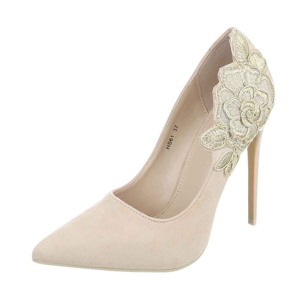 TALLA 37 EU. Zapatos para Mujer Zapatos de Tacon Tacón de Aguja Tacones Altos Beige Tamaño 37