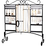 Earring Holder Jewelry Display Necklace Earring Organizer Large Capacity with Removable Foot Jewelry Organizer Bracelets Holder Wall Stand Rack