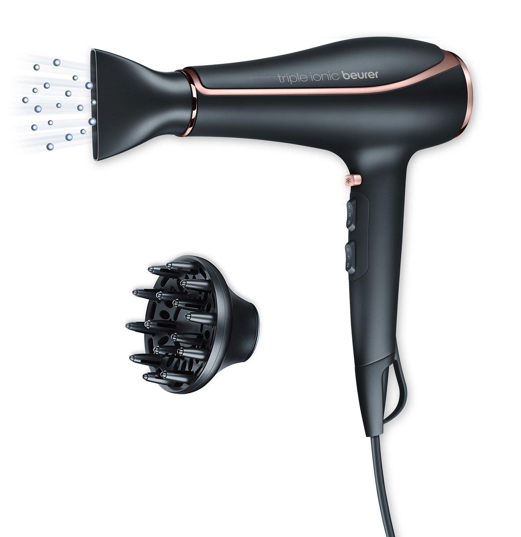 Beurer HC80 - Secador de pelo, 2200 W, motor AC profesional, color negro, detalles cromados: Amazon.es: Salud y cuidado personal