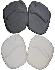 Metatarsal Pads for Women Forefoot,Shoes Wedges Heels Shoe Pads、Running Shoes、Sandals to Pain Relief (Black+Beige)