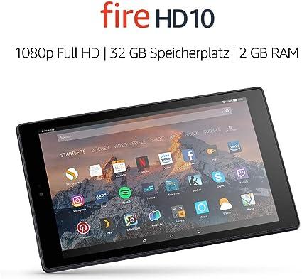 Fire Hd 10 Tablet 1080p Full Hd Display 32 Gb Schwarz Ohne Spezialangebote Vorherige Generation 7