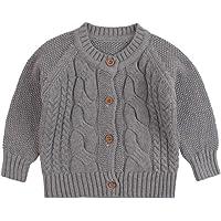 Twist Baby Sweater - Chaqueta de algodón de manga larga para niños y niños, para otoño e invierno