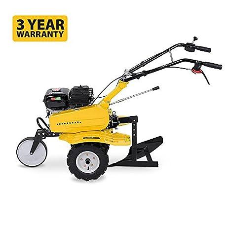 Cultivador y arado de gasolina 2 en 1 de Powerplus, 208 cc, con ruedas