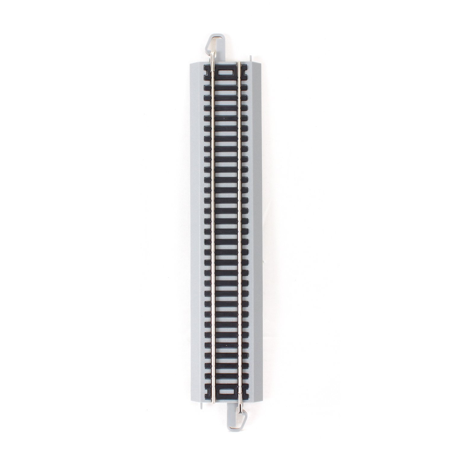Gray Roadbed Bachmann Trains Snap-Fit E-Z Track 9 inch Straight Track 4//card