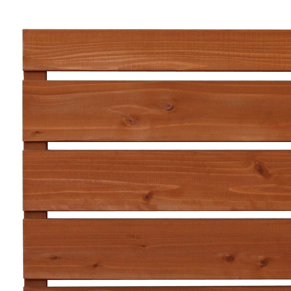 枠付き フェンス 横板C(隙間15ミリ) 国産杉【上下枠】 幅1170×高さ1144×奥行36mm DB(ダークブラウン)色 B0765RY3P3 幅1170mm,DB(ダークブラウン)