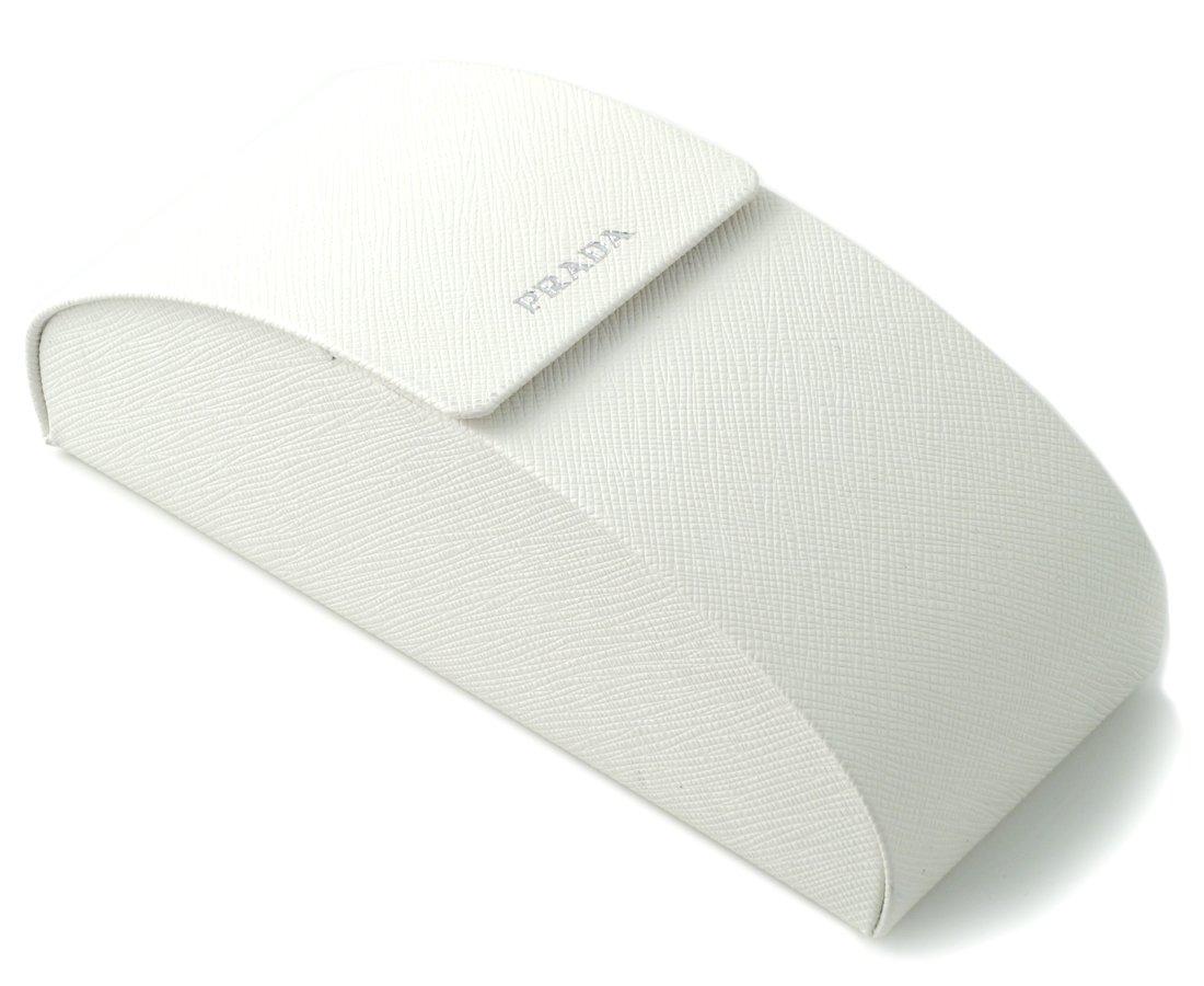 Prada Authentic Hard Eyeglass Case Extra Large Size in White