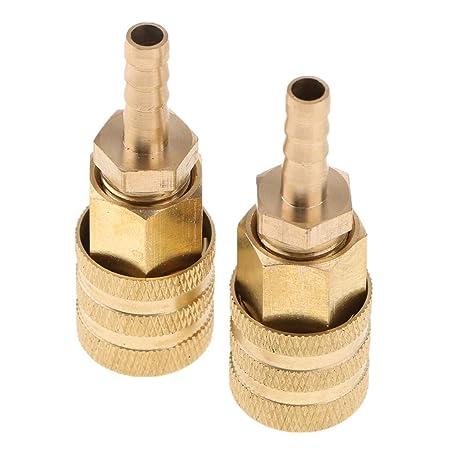 perfk 2x Conector de Válvula de Inflador de Neumáticos Ruedas para Coche Autos
