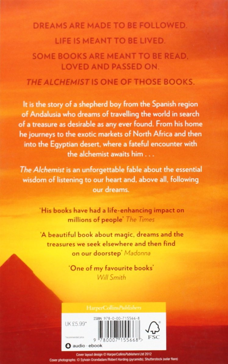 the alchemist amazon co uk paulo coelho books