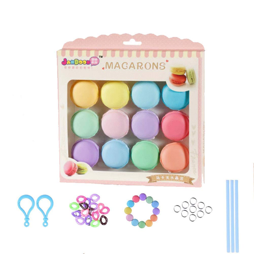 SIMUER 12PCS Macarons Slime Kit, Cristal Mud Kit Arcilla de Caucho de Barro DIY Magia Plastilina Kid Juguetes: Amazon.es: Juguetes y juegos