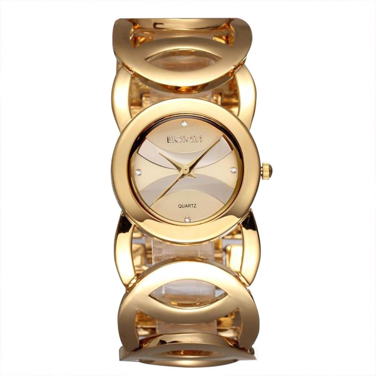 Gosasa Women s FMDJM117 Gold-Tone Watch with Link Bracelet