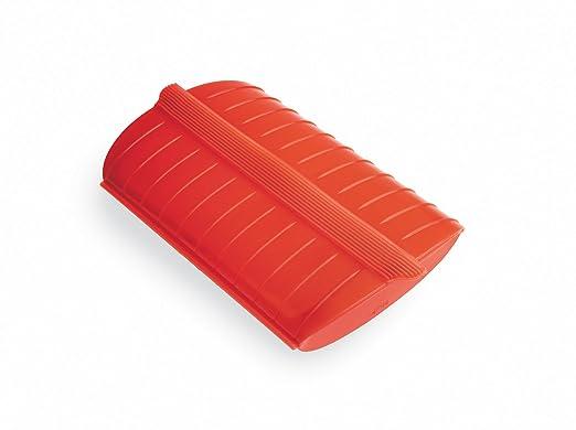 Lékué - Estuche de Vapor para el microondas, con una Capacidad de 1400 ml, 3-4 Personas, Color Rojo