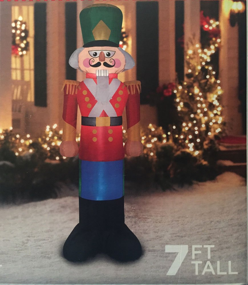Amazon.com: Nutcracker Christmas Toy Soldier Inflatable 7\' Tall ...