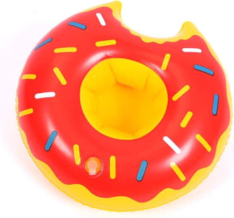 Bandeja inflable de la piscina de verano Bandeja inflable de la bandeja de agua Donuts Fiesta interactiva Juguetes pequeños de la bañera (5P) , Rose Red , 22cm: Amazon.es: Deportes y aire
