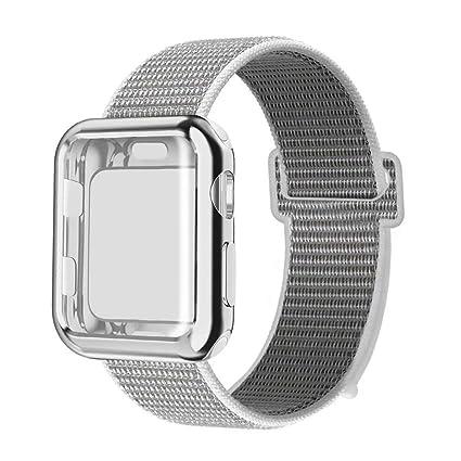 MUEN Compatible para Apple Watch Correa y Estuche Protector ...