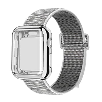 MUEN Compatible para Apple Watch Correa y Estuche Protector ...