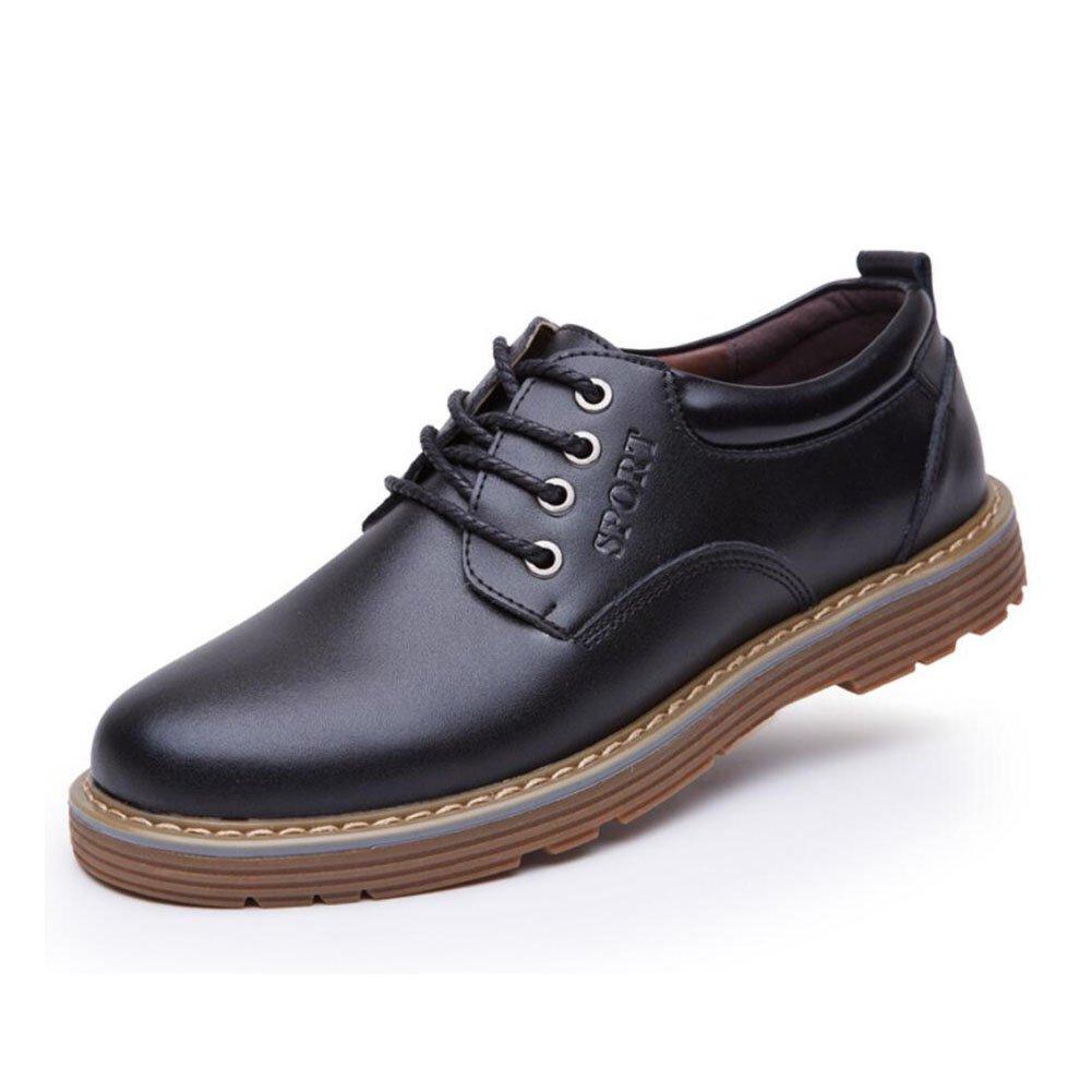 CAI Herrenmode Schuhe 2018 Herbst/Winter Neue  Herren Mode Lässig/Geschäft/Formale Schuhe/Täglich Büro Großen Kopf Lederschuhe (Farbe : Schwarz, Größe : 42)