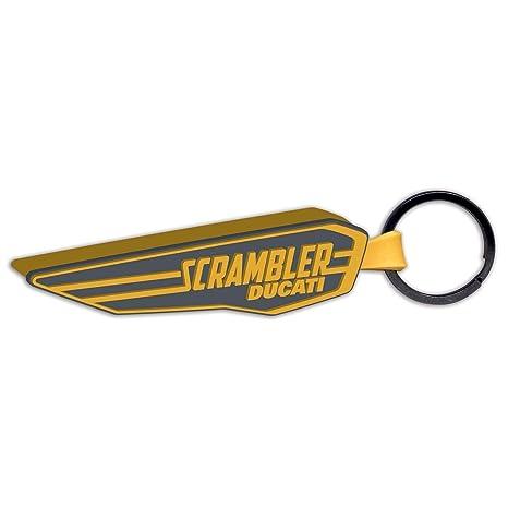 Ducati Scrambler Wing goma llavero amarillo: Amazon.es ...