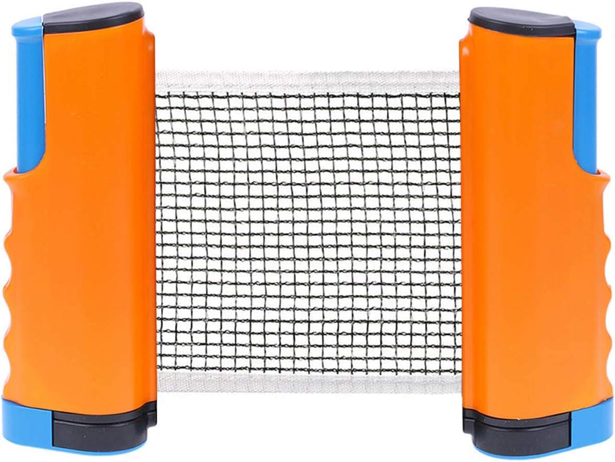Ping Pong Net Portátil Ajustable Retráctil Redes de Tenis de Mesa Malla Titular Funda para Niños Adultos Juego de Interior al Aire Libre