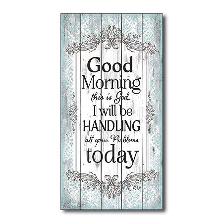 Good Morning Cartel de Pared Madera Placa Madera Palet ...