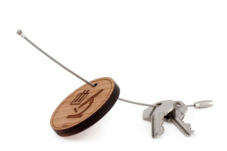 Llavero de laboratorio, cadena de madera con trenzado ...
