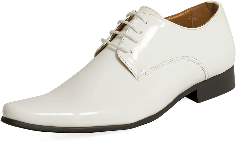Dobell Mens White Dress Shoes Patent
