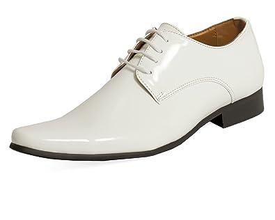 90f94c5f669529 Dobell Moderne Weiße Lackschuhe  Amazon.de  Schuhe   Handtaschen