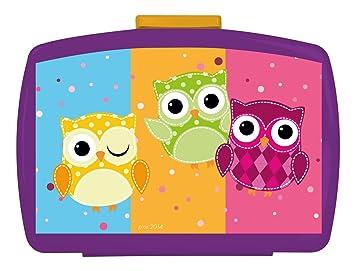 Disney - Caja de Almuerzo con búhos, 16 x 12 x 6.5 cm (Marvel