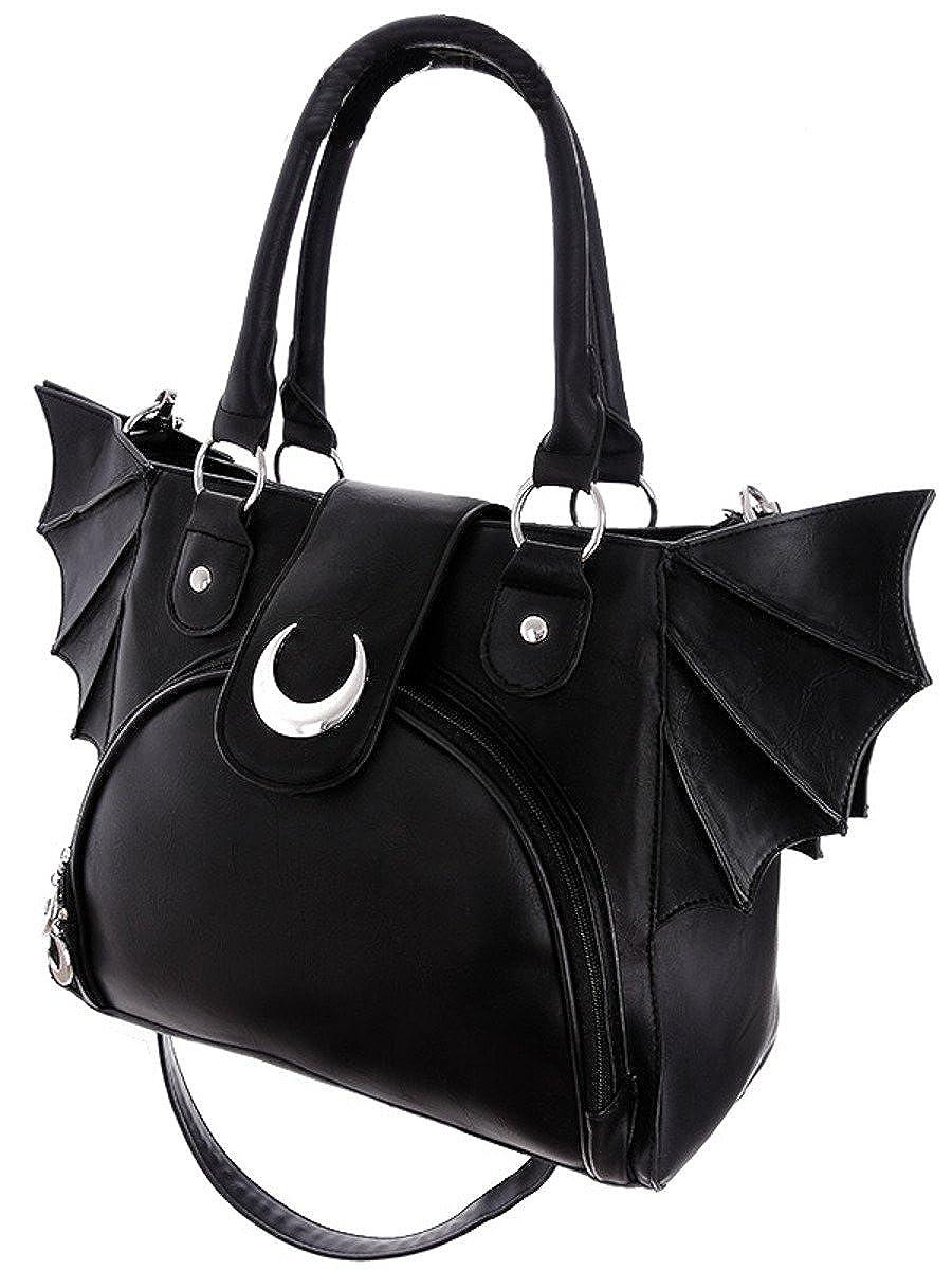 Dark Dreams Gothic EMO Nugoth Tasche Fledermaus Mond Restyle Fledermausflügel