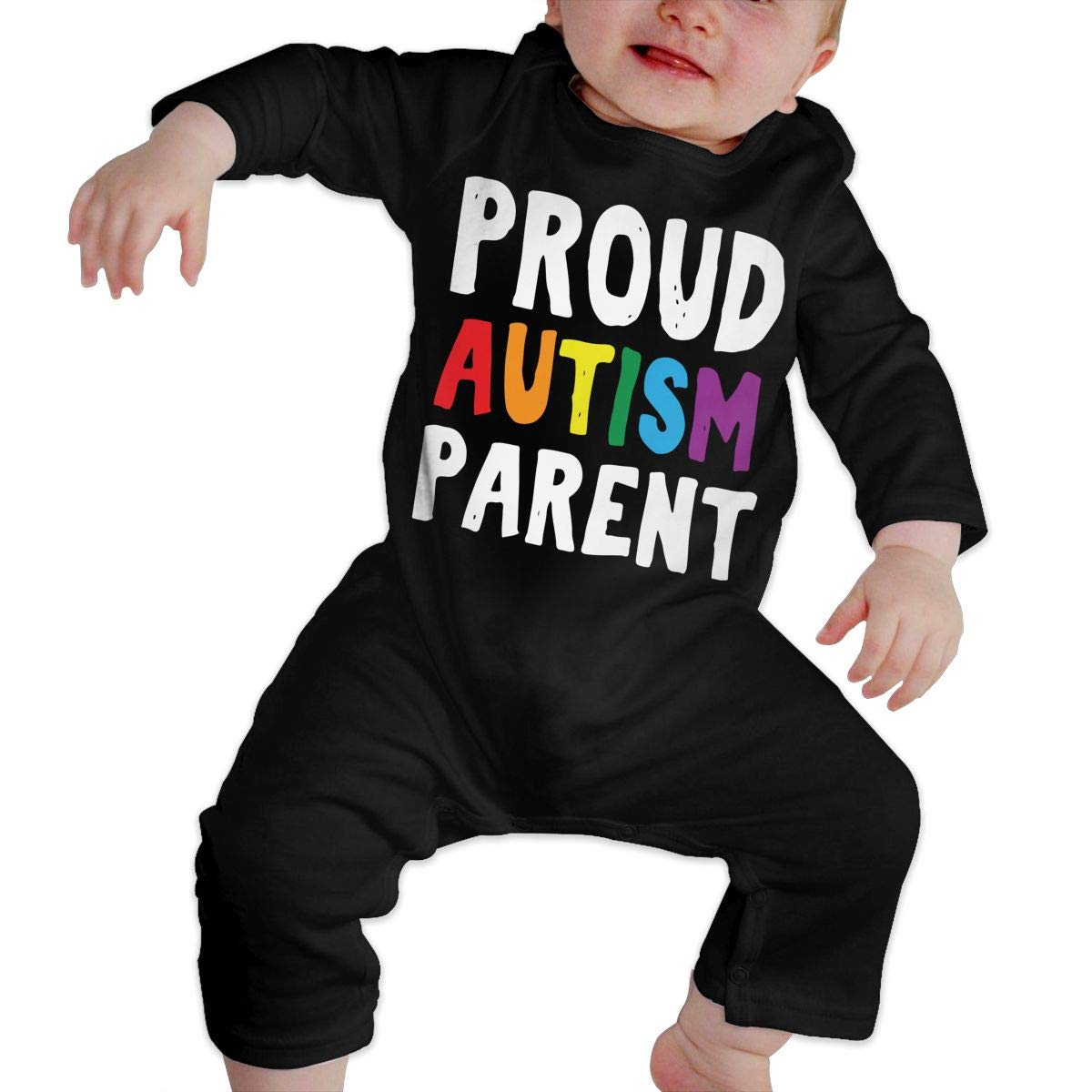 Mri-le1 Toddler Baby Boy Girl Bodysuits Proud Autism Parent Baby Rompers