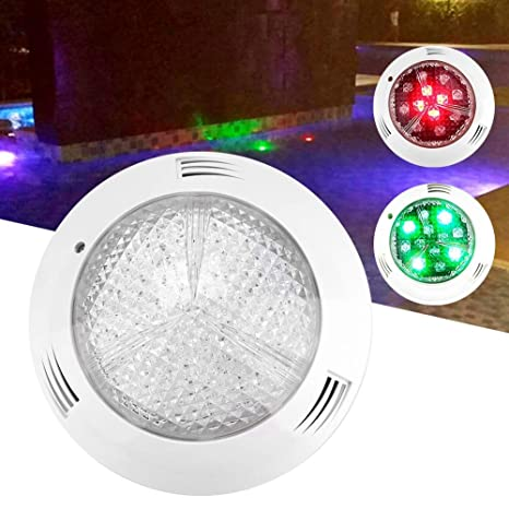 EECOO 35W RGB Luz Sumergible, Luz de Piscina con 360LED, Impermeable IP68, AC