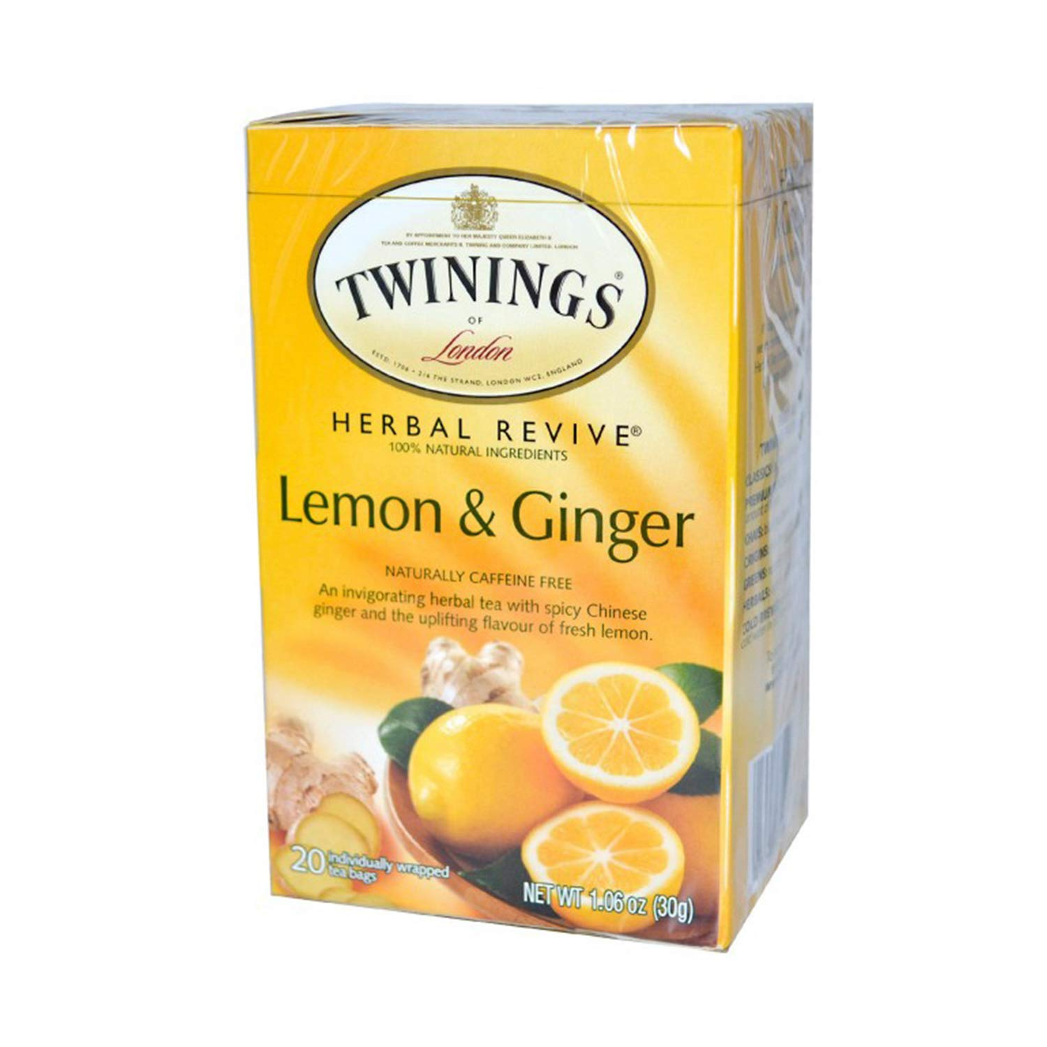 Twinings Tea Lemon and Chinese Ginger Tea, 20 ct
