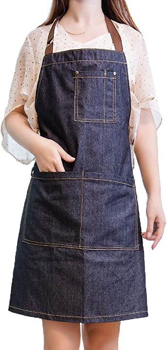 Thy Thou 1 Piece Adjustable Cute Cute Funny Snake Polyester Apron Not Take Up Space Apron with Long Ties Center Pocket for Women Men Chef Home Barbecue Picnic 27/¡/Á32