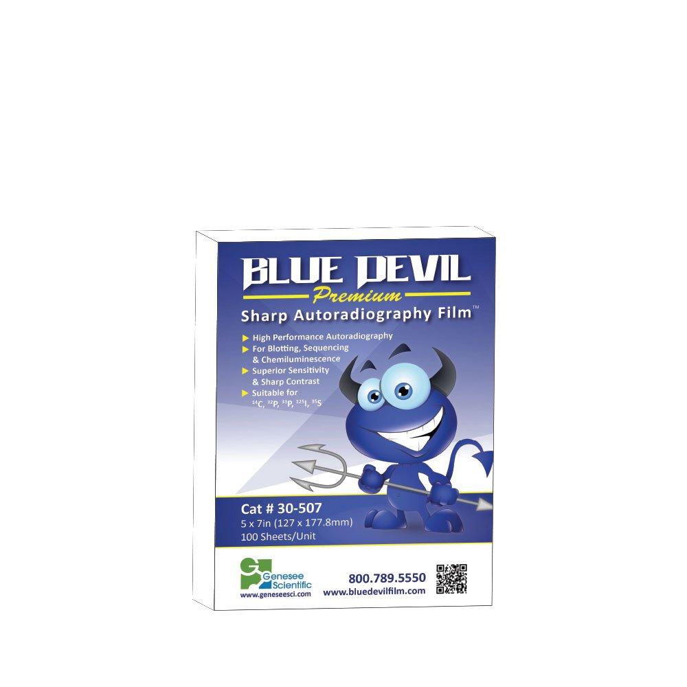 Autoradiography Film 5x7, Blue Devil, Premium, 100 Sheets/Unit
