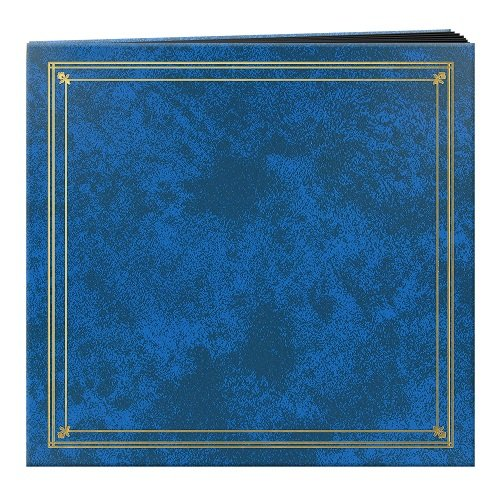 Pioneer Photo Albums 204-Pocket Post Bound Leatherette Cover Photo Album for 4 by 6-Inch Prints, Royal Blue