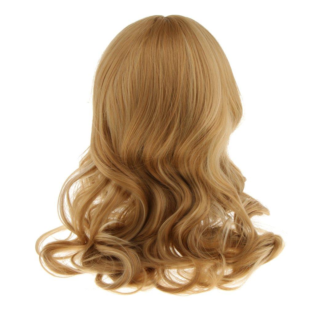Women Lady Cosplay Hair Wigs Long Curly Wavy Wigs Party Fancy Dress