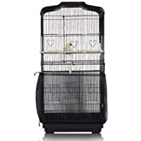 ASOCEA Bird Cage Seed Catcher Parrot Cage Mesh Skirt Universal Birdcage Cover Birdseed Nylon Net Guard Extra Large…