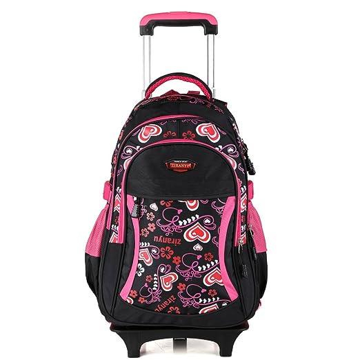 44 opinioni per Zaino borsa trolley scuola viaggio computer tablet pc libri colore rosa nero