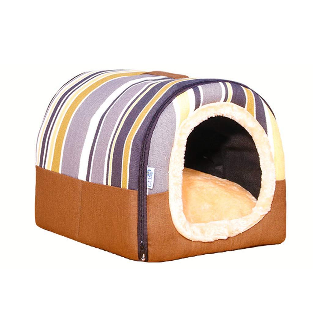 Jlxl Nid de lit pour Animaux de Compagnie, Lit, Double Usage Four Seasons Common Hole Carré Chambre des Animaux Maison Chaude Chat Nest Dog House Chaud Doghouse (Couleur : A, Taille : L.60x48x42cm)