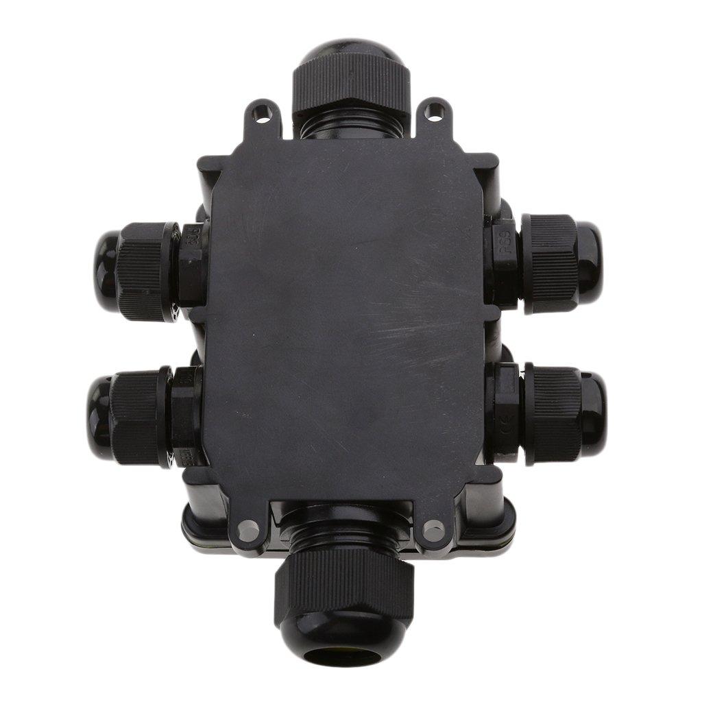 6 Voie Sharplace G713 6 Voies Ext/érieur Bo/îte De Junction /Étanche /à leau IP68 Connecteurs De C/âble Souterrains
