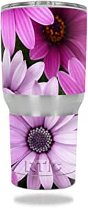 MightySkins Protective Vinyl Skin Decal for RTIC Tumbler 30 oz (2016) wrap Cover Sticker Skins Purple Flowers