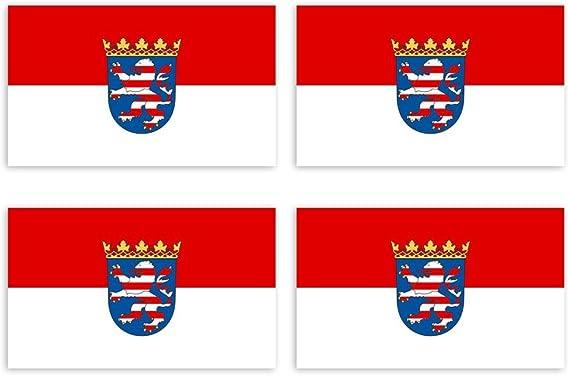 Kiwistar Aufkleber 4 5 X 2 7 Cm Hessen Bundesland Autoaufkleber Deutschland Flagge Länder Wappen Fahne Sticker Kennzeichen Auto