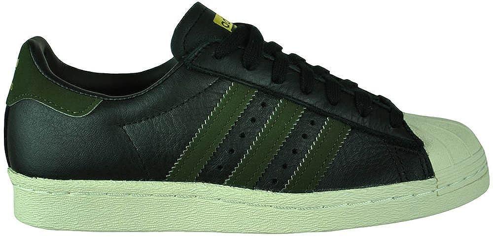 finest selection eada8 7548e Amazon.com   Adidas Superstar 80s Originals Trefoil Mens Sneaker Sports  Shoes Black Green, Sizes EU 37 - UK 4.5 - US 5 - CM 23   Fashion Sneakers