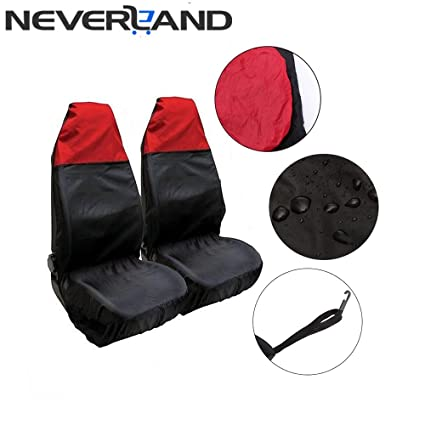 Generic High Density Nylon Waterproof Auto Car Front Seat Cover Sweat Sand Sports Carseat Protector Red