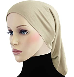 cf6ca7e7ea98 Amazon.com  Black Under Scarf Tube Cap with Brim (Hijab Accessory ...